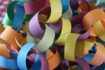 paper chain close up by stitchlily